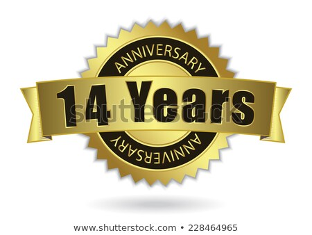 Fourteenth Anniversary Celebration Number Vector Stock photo © pikepicture