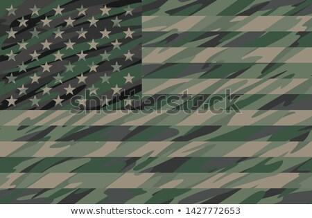Patriotique jungle vert USA pavillon cool Photo stock © jeff_hobrath