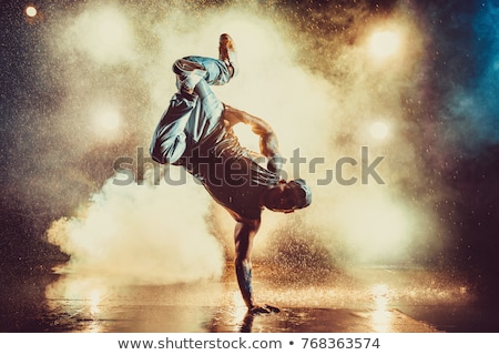 Tánc villanás tánc fiú kézenállás háttér Stock fotó © colematt