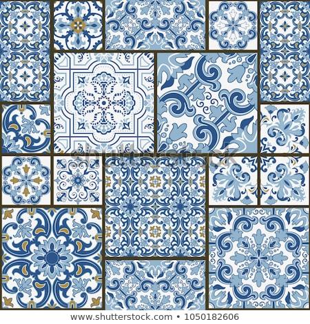 Stock fotó: Pottery Set Pattern
