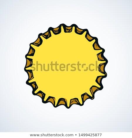 Kézzel rajzolt sörösüveg fedett felső vektor tinta Stock fotó © pikepicture