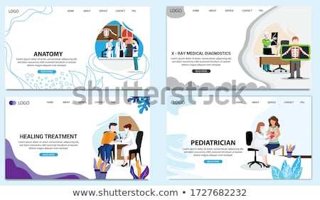 Internal marketing app interface template. Stock photo © RAStudio