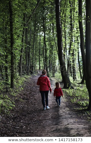 Spending Time in Park, Mother and Child Walking Stock photo © robuart