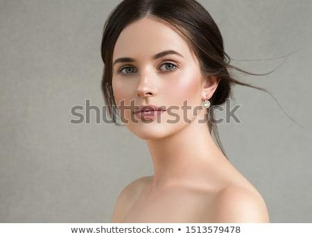 közelkép · fotó · gyönyörű · friss · női · arc - stock fotó © nyul