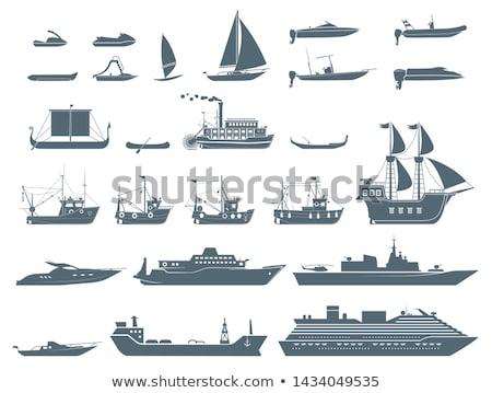 sail yacht icon stock photo © angelp