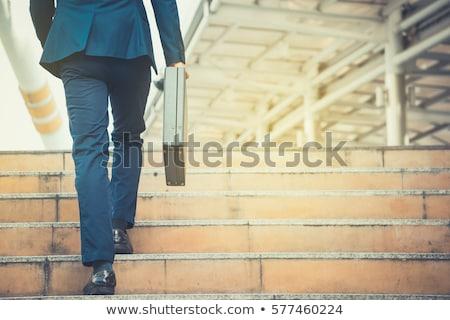 бизнесмен · Постоянный · портфель · стороны · рабочих - Сток-фото © freedomz