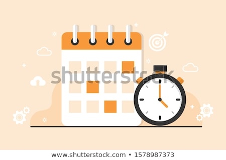 Website kalender klok vector web Stockfoto © robuart