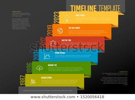 Timeline template with wide stairs and icons Stock photo © orson