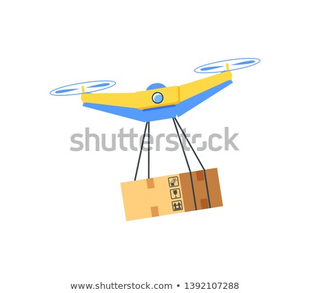 Flying Equipment with Hanging Box, Drone Vector Stock photo © robuart
