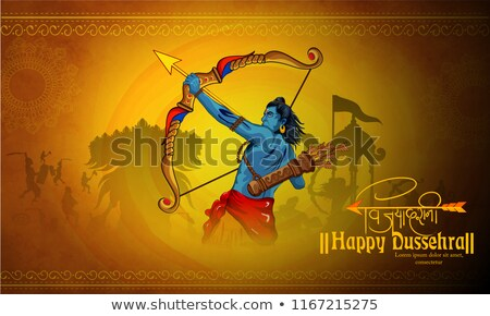 bow and burning arrow happy dussehra festival background Stock photo © SArts