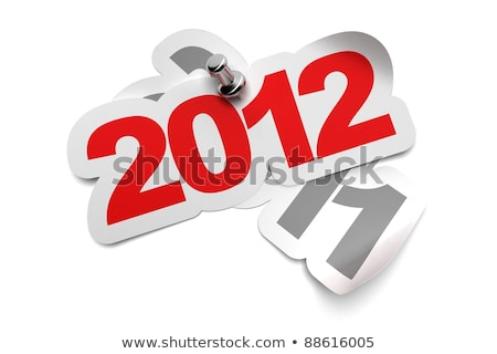 3d 2012 in red and grey stock photo © marinini