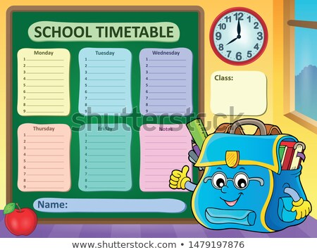 Weekly school timetable template 9 Stock photo © clairev