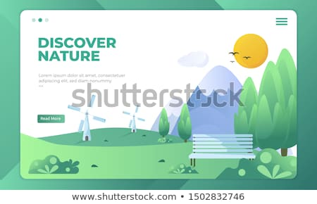 environment day landing page template stock photo © cienpies