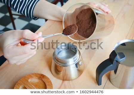 Edény eszpresszó kávé acél bogrács erős Stock fotó © robuart