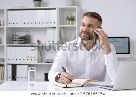 бородатый директор бизнеса компания клиент партнера Сток-фото © pressmaster