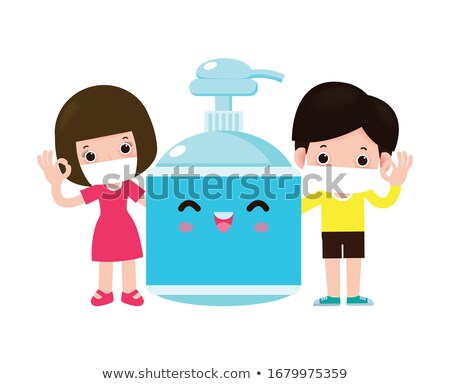 Bonitinho branco menina lavagem mãos doença Foto stock © zkruger