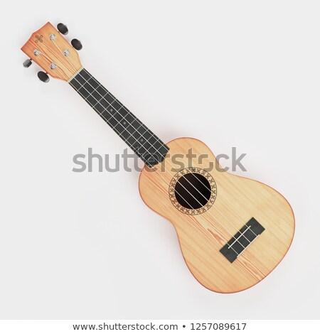 Wooden traditional soprano ukulele 3D Stock photo © djmilic