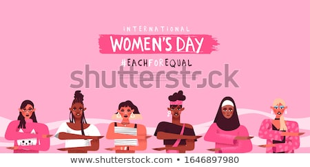 Women's day each for equal diversity web template Stock photo © cienpies