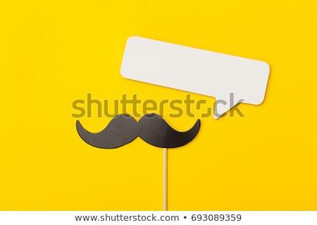 口ひげ 黄色 クローズアップ 黒 空白 先頭 ストックフォト © nito