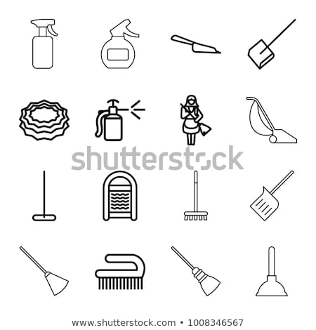 plunger cleaner icon vector outline illustration Stock photo © pikepicture