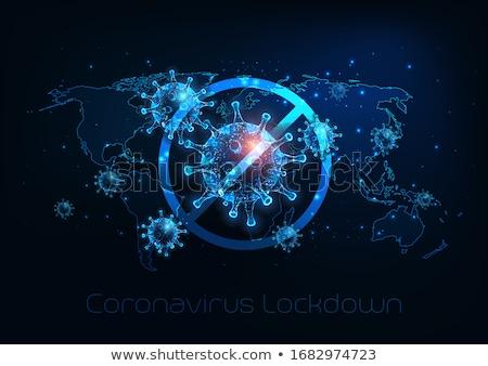 stop coronavirus pandemic worldwide globally banner design stock photo © sarts