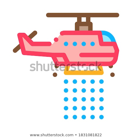 Brand helikopter icon schets illustratie vector Stockfoto © pikepicture