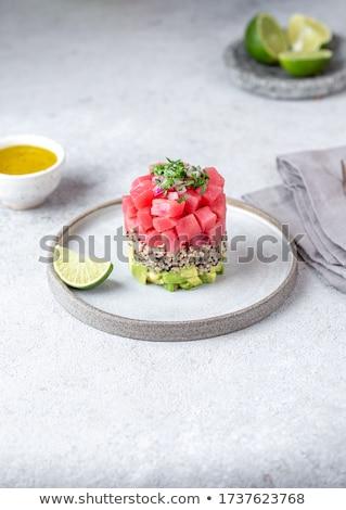 Quinoa with avocado and tuna Stock photo © Alex9500