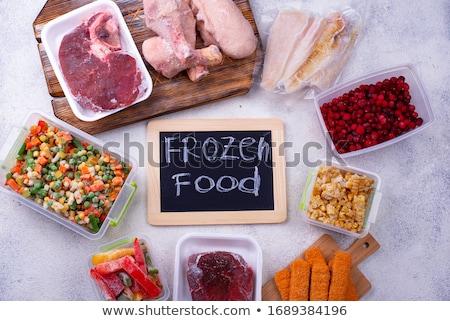 Conjunto congelada carne peixe topo Foto stock © furmanphoto