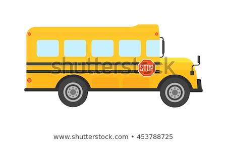 школьный автобус Racing автобус Cartoon стиль большой Сток-фото © ShustrikS