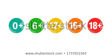a sixteen years over icon, 16 plus age limit. age prohibition. Stock Vector illustration isolated on Stock photo © kyryloff