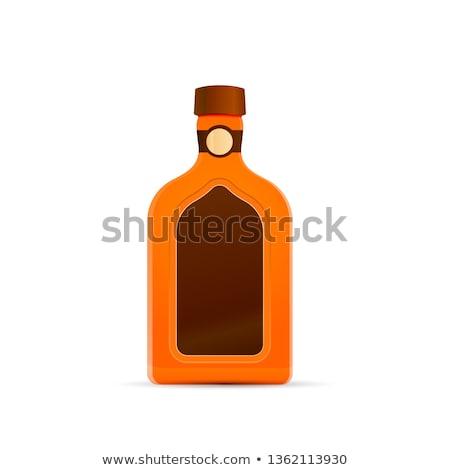 Bright glossy luxury liquor bottle on white Stock photo © evgeny89