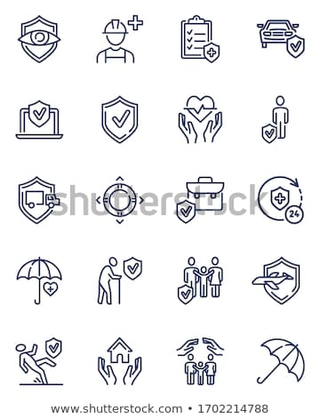 Security Agency Property Protect Icons Set Vector Stock photo © pikepicture