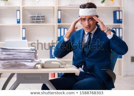 голову раненый мужчины сотрудник рабочих служба Сток-фото © Elnur