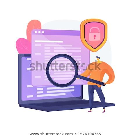 コンピュータ ベクトル メタファー 法医学の 科学 デジタル ストックフォト © RAStudio