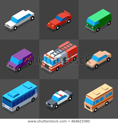 Police Car Machine isometric icon vector illustration Stock photo © pikepicture