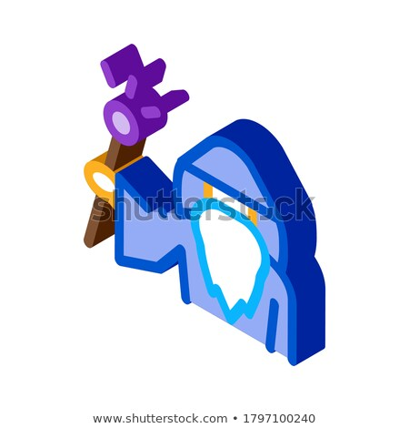 Wizard Hold Wand isometric icon vector illustration Stock photo © pikepicture