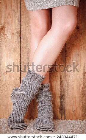 christmas female legs stock photo © nobilior