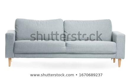 белый · современных · диван · современный · стиль - Сток-фото © jordygraph