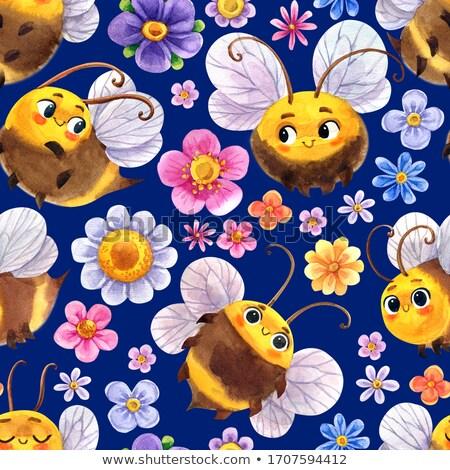 feliz · insetos · vetor · sorrir · borboleta - foto stock © ekapanova
