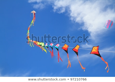 Blauwe hemel kinderen Blauw leuk speelgoed wind Stockfoto © sahua