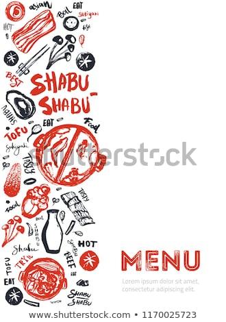 rauw · voedsel · kok · vlees · ingesteld · tabel · kip - stockfoto © supercrimson