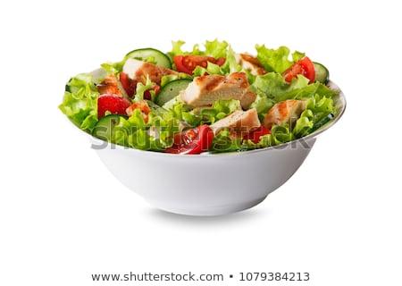 混合した · サラダ · トルコ · クローズアップ · レタス · トマト - ストックフォト © aladin66