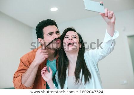 romântico · imagem · masculino · feminino · casal · lábios - foto stock © dacasdo
