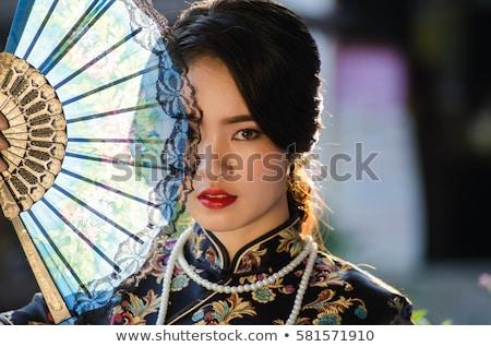 Retrato belo chinês mulher feira Foto stock © cardmaverick2