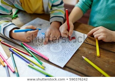 Child colouring Stock photo © jeayesy