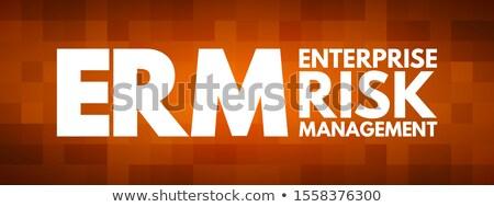 акроним crm корпоративного Управление рисками написанный доске Сток-фото © bbbar