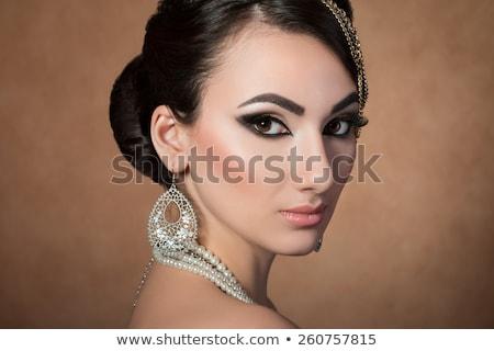 mulher · pérola · miçanga · retrato · atraente - foto stock © marylooo