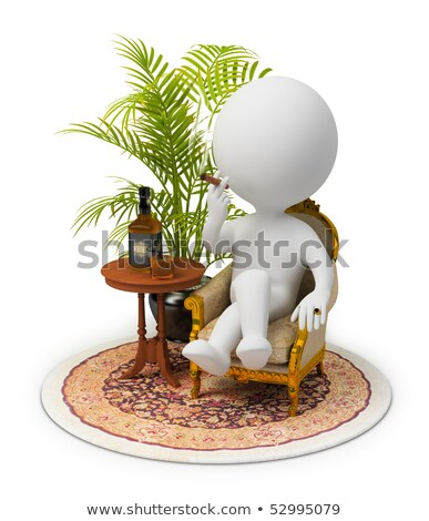 3d small people   luxurious armchair stock photo © anatolym