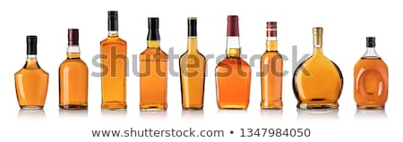 cognac bottle isolated stock photo © ozaiachin