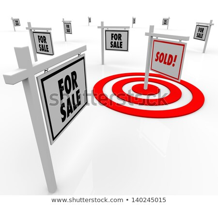 One House in Bulls-Eye Target - Marketing to Buyers Stock photo © iqoncept